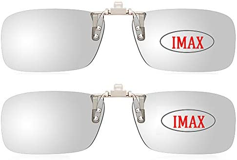 [해외]Clip On Flip Up 3D Glasses Rectangle Polarized - (RealD and IMAX) Glasses for Movies Theater Cinema Passive 3D TV Uni2 Pack / Clip On Flip Up 3D Glasses Rectangle Polarized - (RealD and IMAX) Glasses for Movies Theater Cinema Passi...