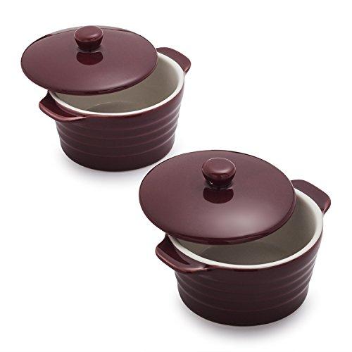 Sur La Table Stoneware Mini Cocottes M913 WIN , Set of 2, Wine