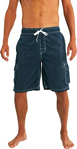 Norty Swim - Mens Swim Suit, Navy - Swimwear Men's