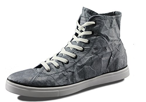 Unstitched Utilities Mens Next Day Mid Designer Tyvek Fashion High-Top Cool Grey/Black KNLPov
