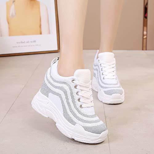GTVERNH Damenschuhe Mode Frühjahr Joker Schuhe High Heels Heels High Atmungsaktiver Netze Casual Schuhen. e4d97e