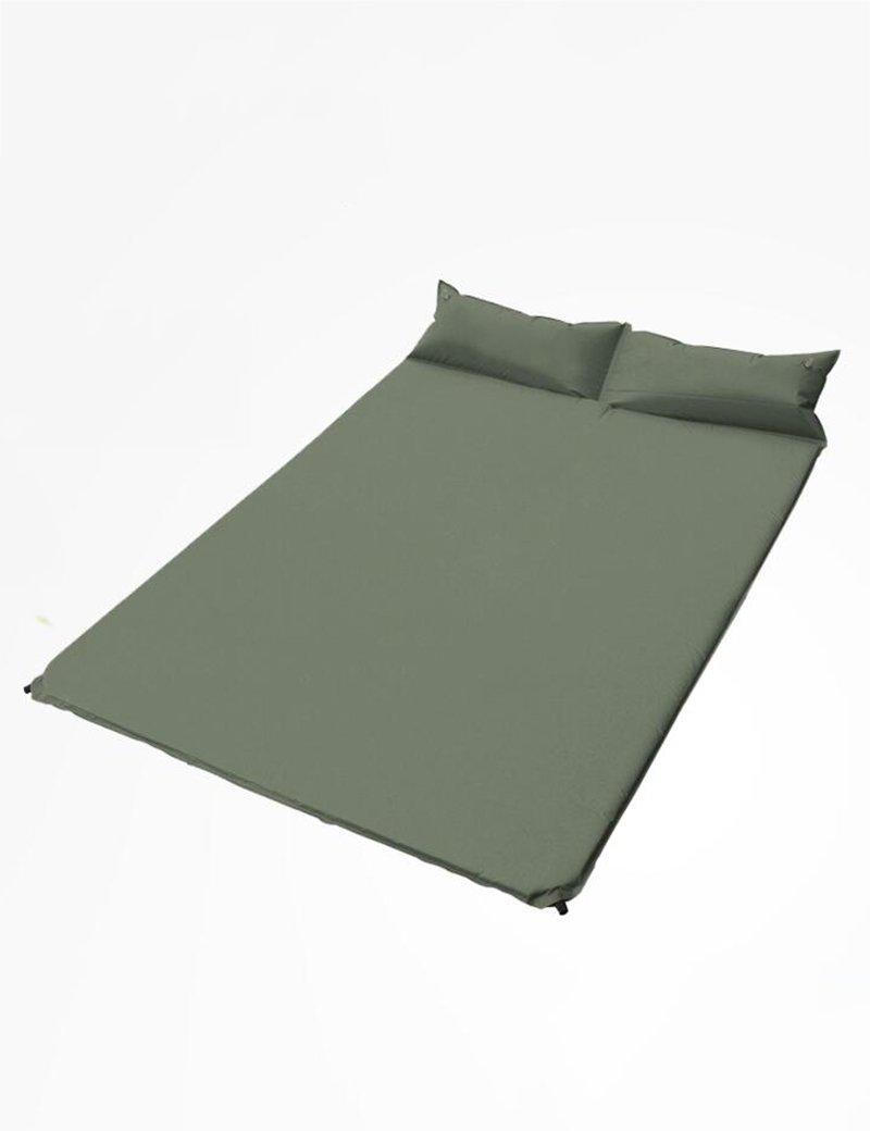 Anti-reißender Polyester-Taffel Aufblasbares Bett Camping Feuchtigkeit Pad Doppelt Automatisches aufblasbares Pad draussen Zelt Schlafmatten 185  130  3cm