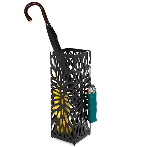 Best Choice Products Entryway Modern Square Metal Umbrella S