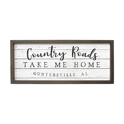 DASON Country Music Country Roads take me Home Personalized Rustic Wood Sign Cottage Decor Farmhouse Decor johndenver]()