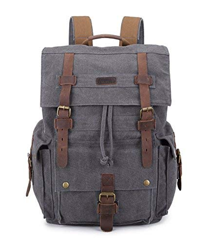 Paraffin Outdoor Canvas Backpack Hiking Camping Rucksack Heavy Duty Daypack School Backpack for Men and - Paraffin Replacement