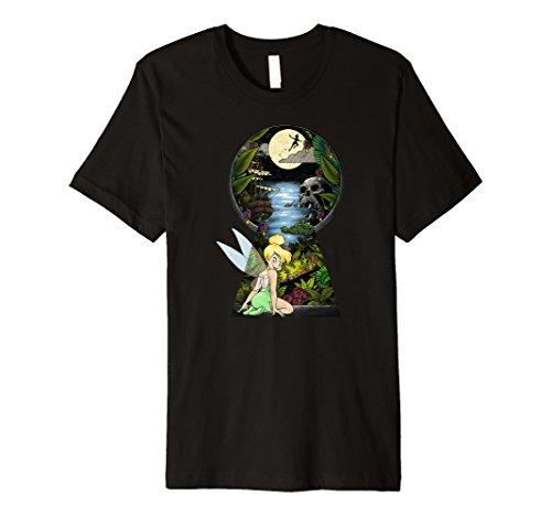 Disney Peter Pan Tinkerbell Keyhole Premium T-Shirt ()
