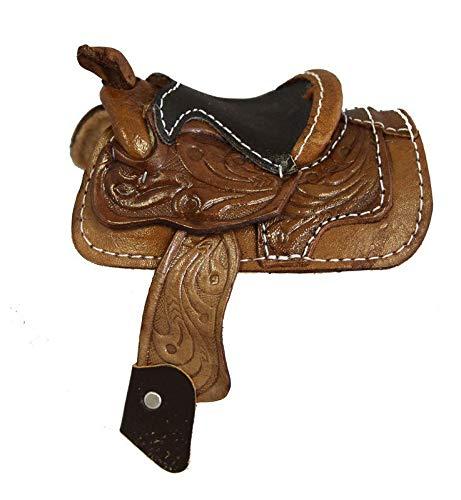 AJ Tack Wholesale Miniature Saddle Display Genuine Tooled Leather 2
