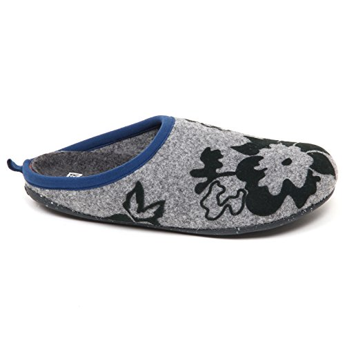 Woman D9264 Grey Twins Donna Box Grigio Slipper Camper Pantofole Shoe without w7a6qZg