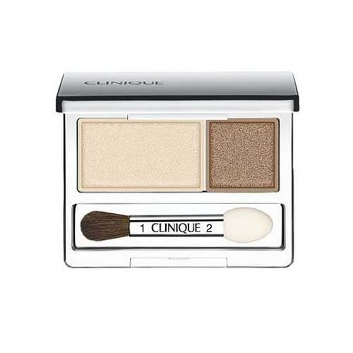 - Clinique All About Crease and Fade Resistant Eye Shadow Duo - 0.07 Oz (Ivory Bisque/Bronze Satin)