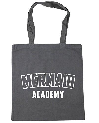 Grey 42cm Beach HippoWarehouse Tote Academy Shopping Graphite Mermaid Gym Bag litres x38cm 10 HTqS76xw