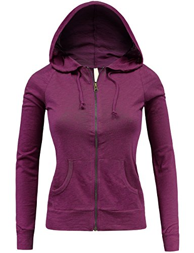 Hot BEKTOME Womens Classic Casual Solid Long Sleeve Zip Up Hoodie Jacket hot sale