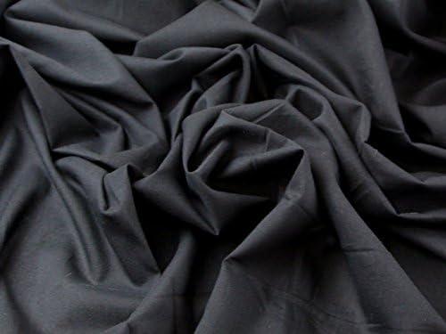 Tela de gasa de algodón lisa vestidos negro – Por metro: Amazon.es ...