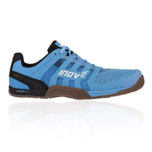 Inov-8 Womens F-Lite 235 V2 - Lightweight Minimalist Cross Training Shoes - Zero Drop - Athletic Shoe for Gym, Training and Weight Lifting - Wide Toe Box - Light Blue/Gum M6.5/ W8 (Martial Arts Shoes Women)