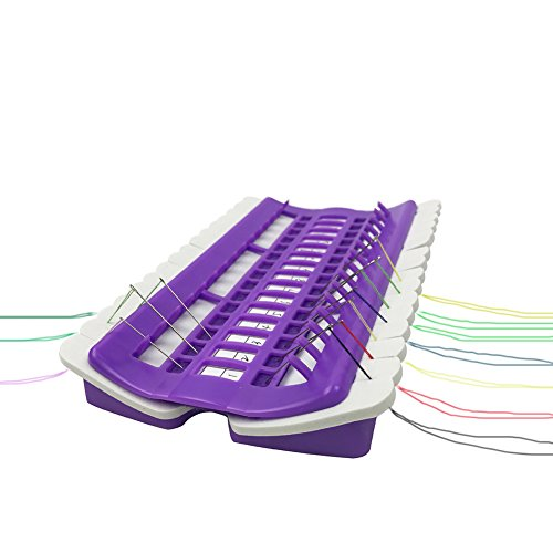 D&D Embroidery Floss Organizer, Plastic & Foam, Purple, 6.9 by 4.3 by 0.9 inches