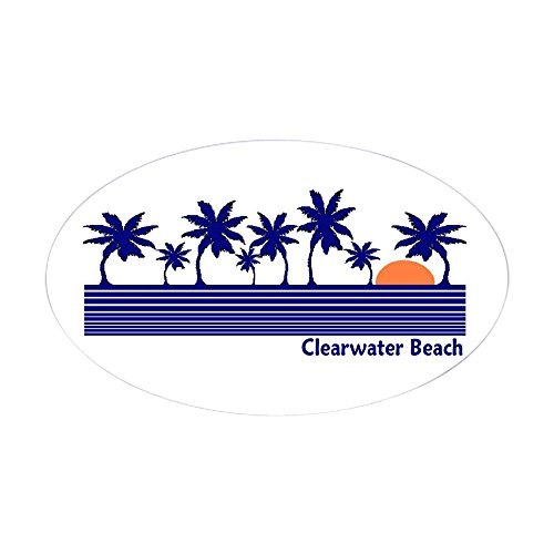 CafePress - Clearwater Beach, Florida Oval Sticker - Oval Bumper Sticker, Euro Oval Car (Mugs Clearwater)