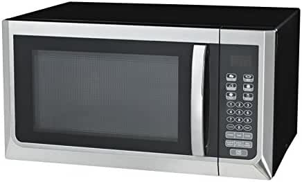 Oster OGZC1101 Digital Microwave Oven, 1.1 Cubic Feet, Black/Stainless Steel