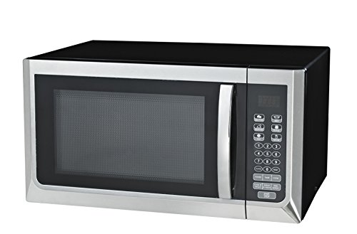 UPC 836321007653, Oster OGZC1101 Digital Microwave Oven, 1.1 Cubic Feet, Black/Stainless Steel