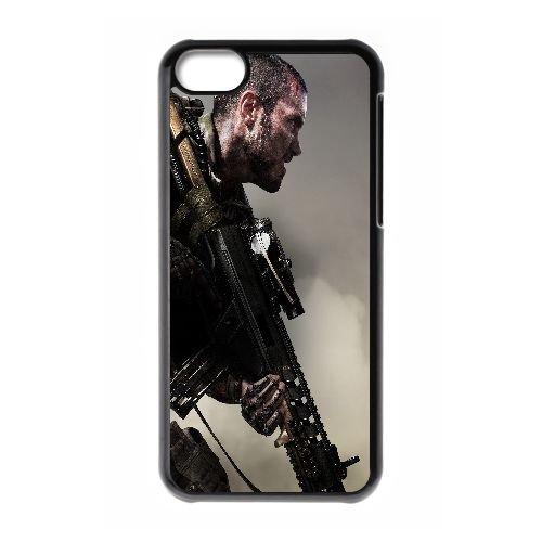 W8U04 appel du devoir avancé guerre ascendance T1V4VO cas d'coque iPhone de téléphone cellulaire 5c couvercle coque noire WX1LHD6TR