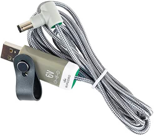 myVolts Ripcord - USB to 6V DC Power Cable Compatible with The Omron HEM-7211 Blood Pressure Monitor