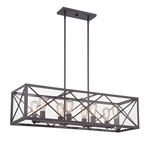Designers Fountain 87338-SB High Line 8 Light Linear Chandelier ()