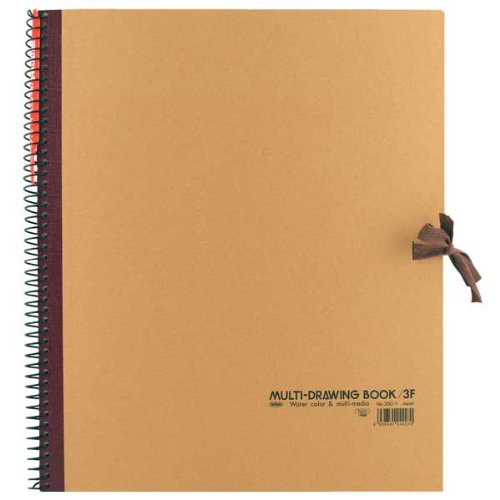 Holbein Spiral Sketch Book 10.5X8.5 Brown by Holbein