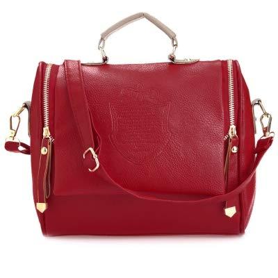PEATAO Women Messenger Bag, Handbag Cross Body Shoulder Bag Small Messenger Bag With Interior Zipper Pocket (US STOCK) (Red)