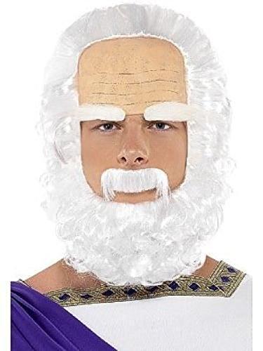 Men's Socrates Wig Beard and Eyebrows Greek Costume Accessory (Socrates Costume)