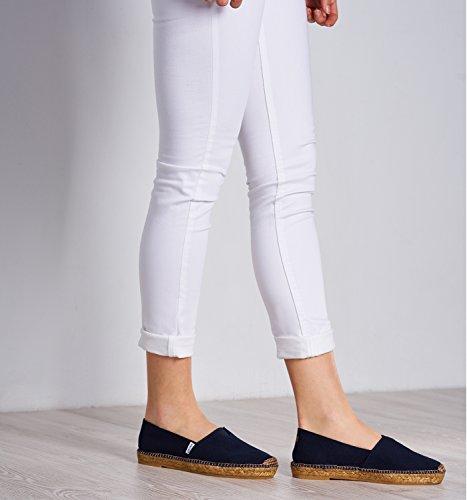 per originali da Navy donna Viscata elastico con Barceloneta maggiore comfort cucitura Espadrillas interna zq1wxTF