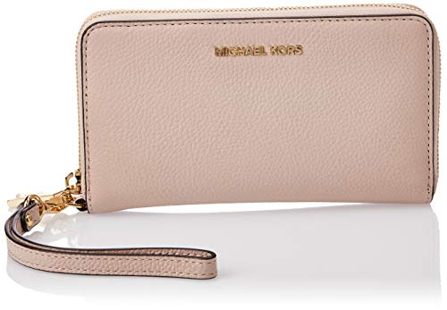 MICHAEL Michael Kors Women's Large Flat Phone Wristlet, Soft Pink, One Size