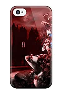 Fashion Tpu Case For Iphone 4/4s- Animal Bat Dress Flowers Moon Remilia Scarlet Rose Thighhighs Touhou Vampire Defender Case Cover
