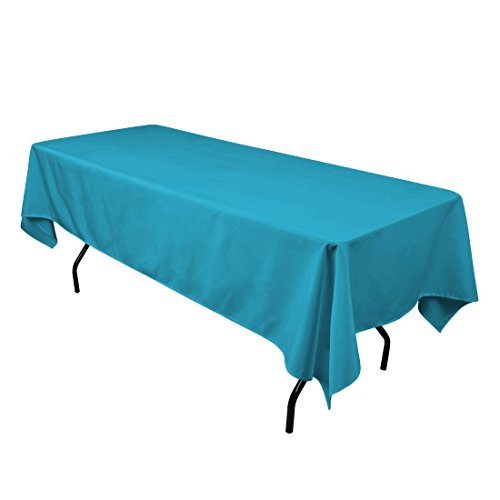 "Gee Di Moda Rectangle Tablecloth - 60 x 102"" Inch - Caribbean Rectangular Table Cloth for 6 Foot Table in Washable Polyester - Great for Buffet Table, Parties, Holiday Dinner, Wedding & More"