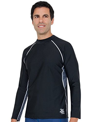 Tuga Men's Long Sleeve Rash Guard, UPF 50+ Sun Protection