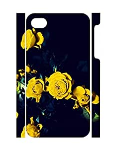 Special Custom Funky Floral High Impact Iphone 4 4S Phone Case