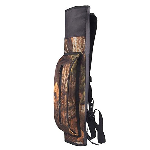 Pellor Hunting Archery Arrows Bow Case Adjustable Shoulder Strap Quiver Large Capacity Camouflage Arrow Tube Package Carrier Holder