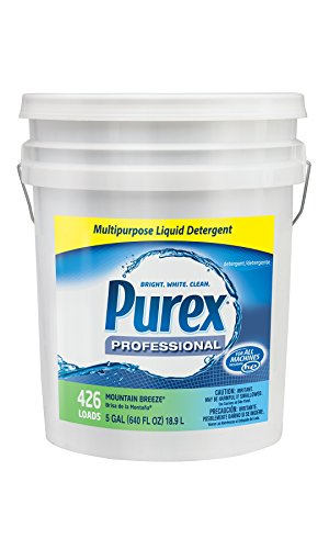 Dial 1468876 Professional Purex Mountain Breeze Multipurpose Liquid Detergent, 5 Gallon Pail, 426 Loads by Dial