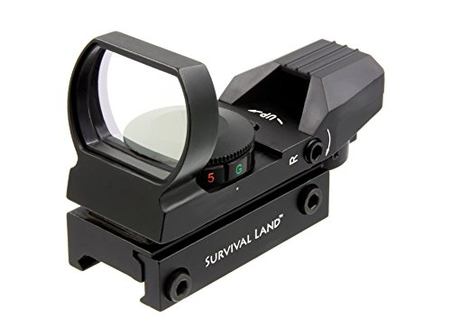 (Survival Land Reflex Sight with 4 Selectable Red or Green Retical Patterns)
