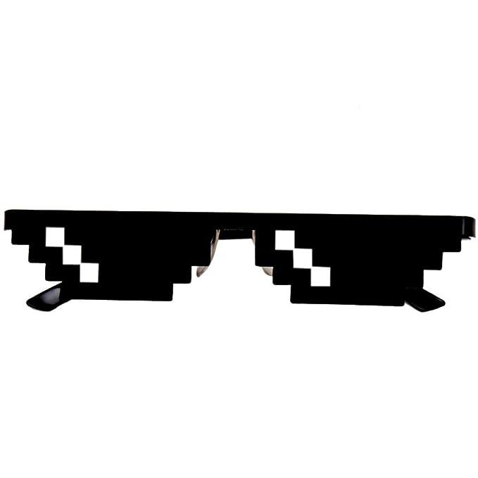 6617f1eca5 ZARLLE Thug Life 8 Bit Pixel Tratar Con Gafas Gafas De Sol Gafas De Sol  Unisex Mosaic Funny Evil Man Glasses Toy: Amazon.es: Juguetes y juegos
