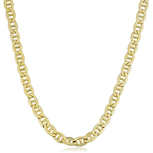 Kooljewelry 14k Yellow Gold Filled Men's Heavyweight 5.8 mm Mariner Link Chain Necklace (20 inch)