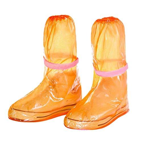 resistant Schuhe walking Regen Abdeckungen Overshoes Slip Protective Cover Covers Schnee Verdicken Leicht Rainproof Zhuhaixmy Orange Reisen Boots gES5Hw8Wvq