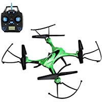 KOBWA JJRC H31 Waterproof Drone with Headless Mode 2.4G 4CH One Key Return 360 Degree Rolling Action RC Quadcopter with LED Light, White/Green