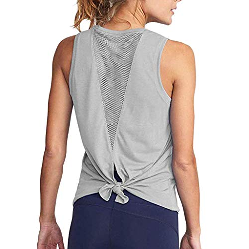 Women's Yoga Tank Top Open Back Tops Sports Racerback Tank Top Elastic Sleeveless T-Shirt Vest for Fitness Gym Toponly