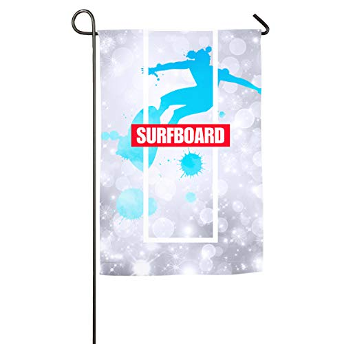Olympic Diving Board - FOOOKL Duck Diving Watercolor Surfboard Home Family Party Flag 101 Hipster Welcomes The Banner Garden Flags