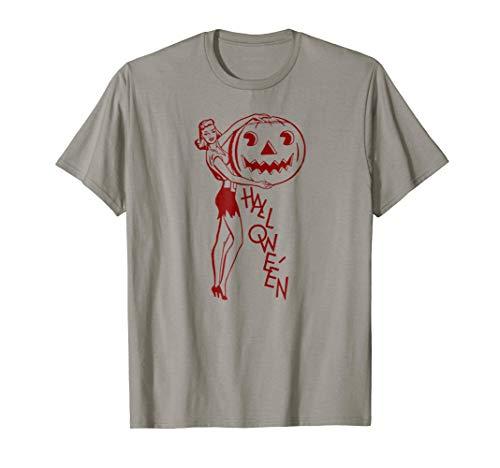 Pop Art Happy Halloween Party T-Shirt Carved Pumpkin