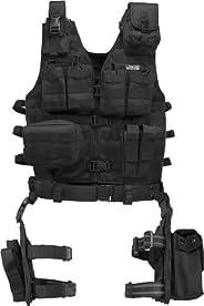 Barska BI12016 Loaded Gear VX-100 Tactical Vest and Leg Platform