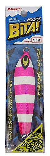 HARIMITSU(ハリミツ) メタルジグ MBJ02 ビタジグ150g #04PKゼブラグロー.の商品画像