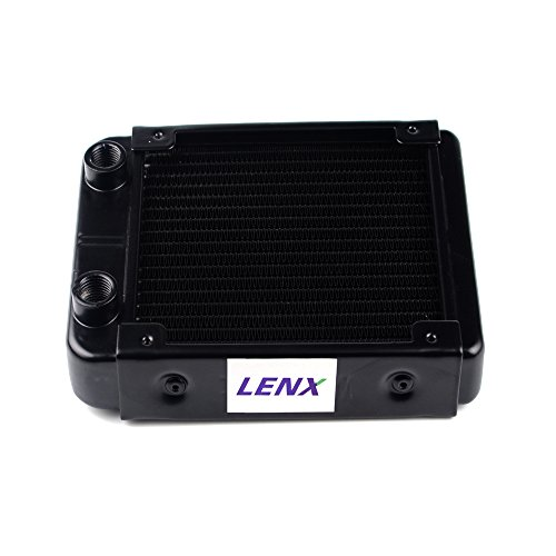 BXQINLENX 18 Pipe Aluminum Heat Exchanger Radiator for PC CPU CO2 Laser Water Cool System Computer 120mm(B)