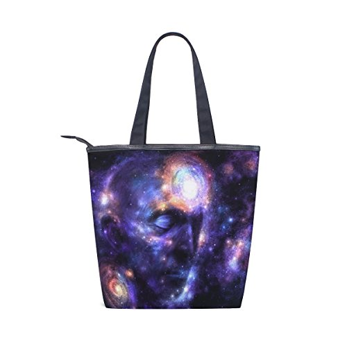 Shoulder Bag Womens Face Tote MyDaily Galaxy Canvas MyDaily Handbag Shoulder Tote Canvas qgxOnTaUY
