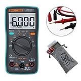 Digital Tester, Auto Digital Multimeter 6000 Counts Backlight AC/DC Meter Ammeter Voltmeter Low Voltage Temperature Indication Portable ZT102 Meter Scientific Measurement