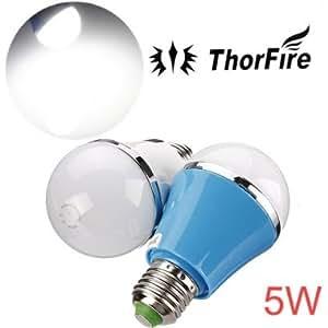 ThorFire E27 5W SMD 5730 AC 85-265V White LED Globe Light Bulb