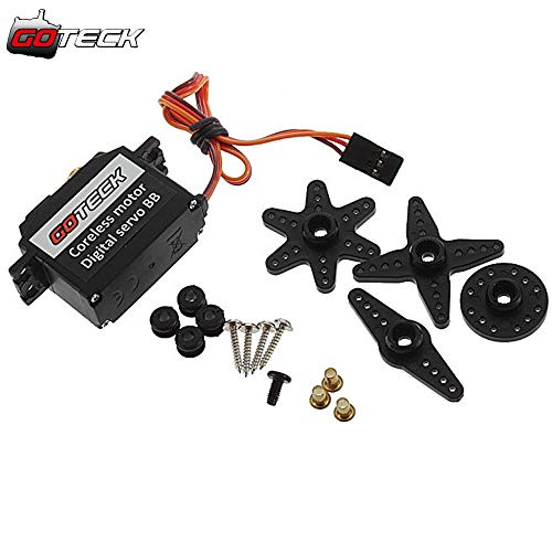 Kamas GOTECK-9257 GS-9257MG Metal servo Digital servo Lock Tail servo for Trex 450 500 RC Helicopter - (Color: 4pcs GS-9257MG)